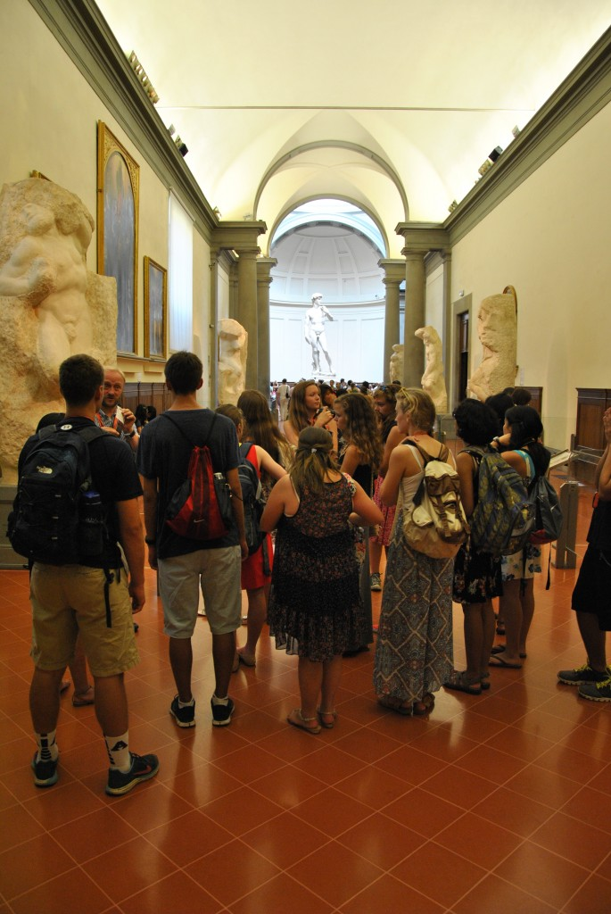 Approaching Michelangelo's David by way of the Prisoners.